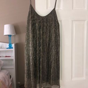 Gold mesh flowy dress